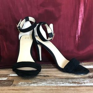 Victoria's Secret Black Ankle Strap Heel